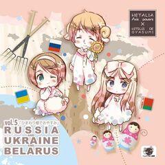 Ukraine, Russia, and Belarus as 'chibis'.