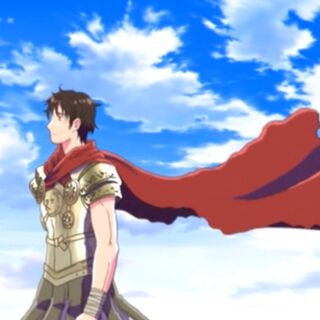 Rome's military uniform in Episode 1 of the anime