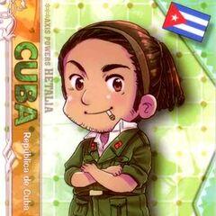 Chibi Cuba in military uniform