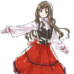 A younger Hungary in traditional clothing, done for the