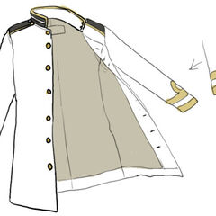 A detailed sketch of just Japan's naval jacket.