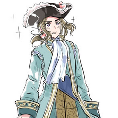 France in traditional clothing (