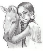 Native American Girl with Foal by SAkURA JOkER