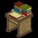 Bibliocraft - Desk - Oak With Books