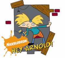 Arnold holding flashlight logo