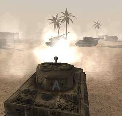 Destroying the tanks (Daiburn)