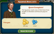 Quest Egyptian Boat 2-Rewards