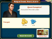 Quest Ring of Truth-Part One 6-Rewards
