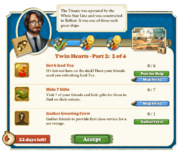 Quest Twin Hearts Part Two 2-Tasks