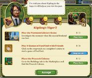 Quest Kipling's Tiger 7-Tasks