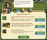 Quest Kipling's Tiger 11-Tasks