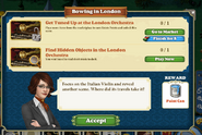 Quest Bowing In London-Tasks