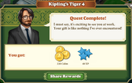 Quest Kipling's Tiger 4-Rewards