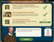 Eplore to the secluded Lion pond 1 of 7 tasks