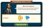Quest Twin Hearts Part Two 2-Rewards