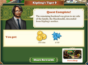 Quest Kipling's Tiger 9-Rewards