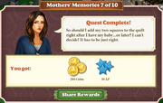 Quest Mother's Memories 7-Rewards