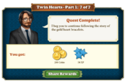 Quest Twin Hearts Part One 7-Rewards