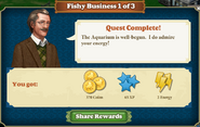 Quest Fishy Business 1-Rewards