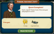Quest Tennis, Anyone? 3-Rewards
