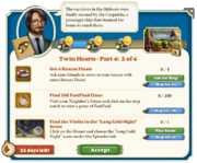 Quest Twin Hearts Part Four 2-Tasks