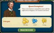 Quest Tennis, Anyone? 1-Rewards