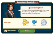 Quest Carrying A Torch 1-Rewards