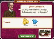 Quest Romantic Proposal 3-Rewards