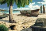 Scene Tropical Beach-icon