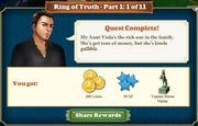 Quest Ring of Truth-Part One 1-Rewards