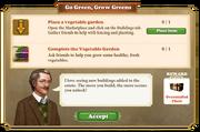 Quest Go Green, Grow Greens-Tasks