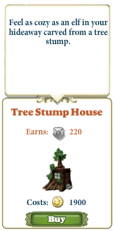 Marketplace Tree Stump House-infos