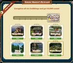 Estate Master's 2 Reward-Info
