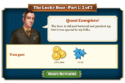 Quest The Lucky Bear Part One 2-Rewards