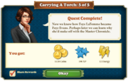 Quest Carrying A Torch 5-Rewards