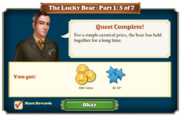 Quest The Lucky Bear Part One 5-Rewards