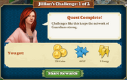 Jillian's Challenge 1 Rewards