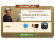 Quest Hot on the Trail 5-Rewards