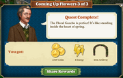 Quest Coming Up Flowers 3-Rewards