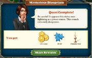 Quest Mysterious Blueprints-Rewards