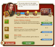 Quest The Lucky Bear Part One 2-Tasks