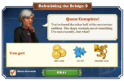 Quest Rebuilding the Bridge 9-Rewards