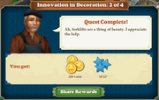 Quest Innovation in Decoration 2-Rewards
