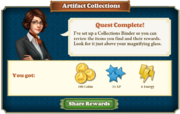 Quest Artifact Collections-Rewards