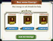 Energy-Aks for Energy Window