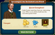 Investigate the Secluded Lion Pond-Rewards
