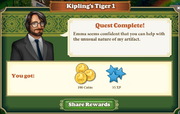 Quest Kiplings Tiger 1-Rewards