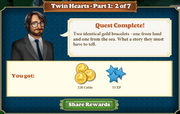Quest Twin Hearts Part One 2-Rewards