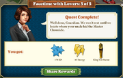 Quest Facetime with Lovers 5-Rewards