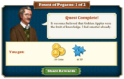 Quest Fount of Pegasus 1-Rewards